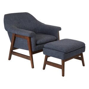 Flynton Lounge Chair and Ottoman by Ave Six