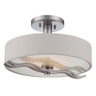 Elnath 1-Light Semi Flush Mount by Orren Ellis