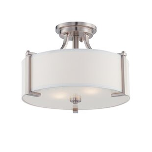 Latitude Run Bergen 2-Light Semi Flush Mount