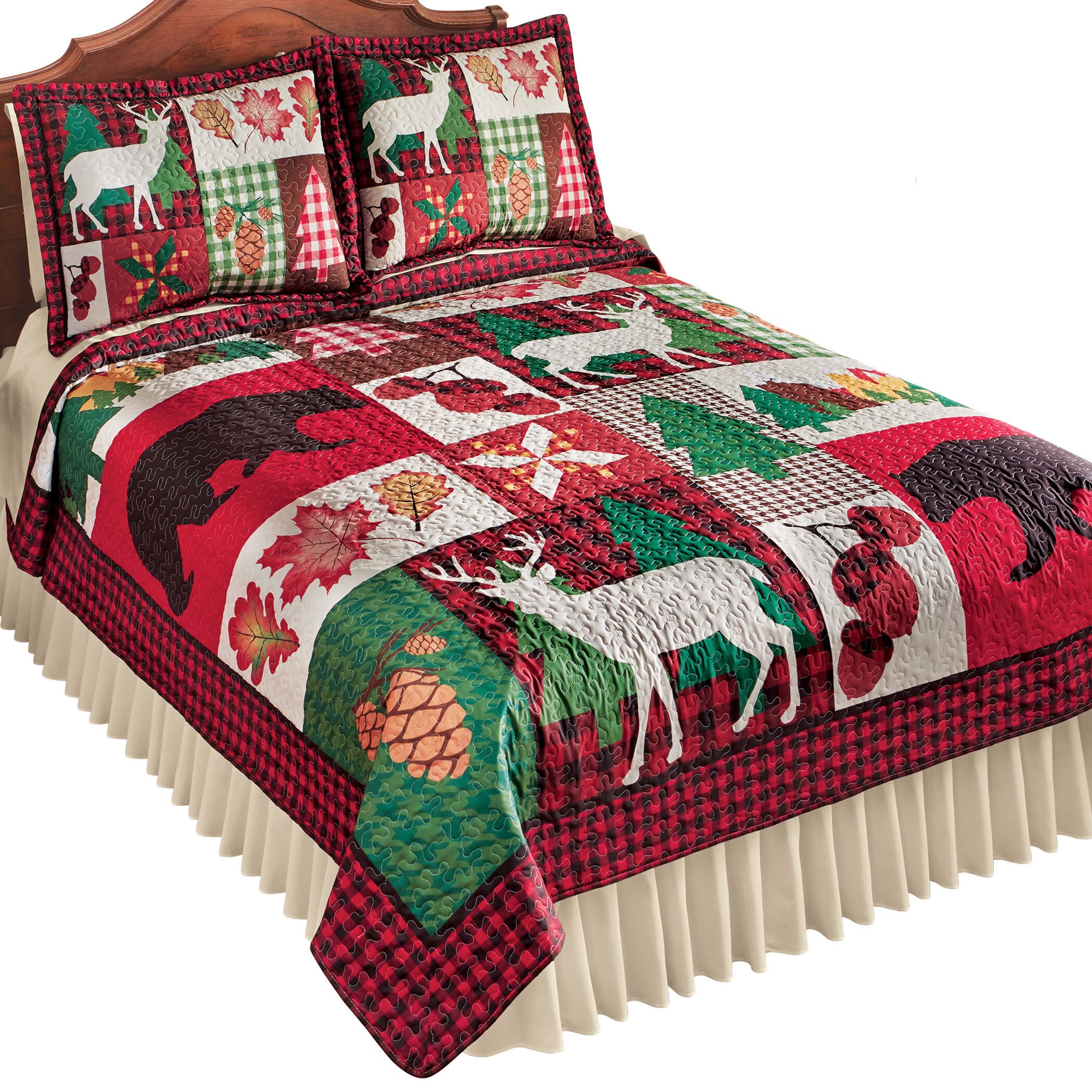 Cabin Lodge White Quilts Coverlets Sets You Ll Love In 2021 Wayfair