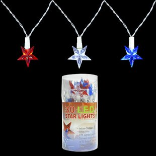 Penn Distributing 30 Light Patriotic LED Star Set
