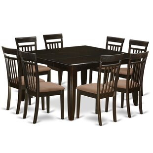 Pilning 9 Piece Extendable Solid Wood Dining Set