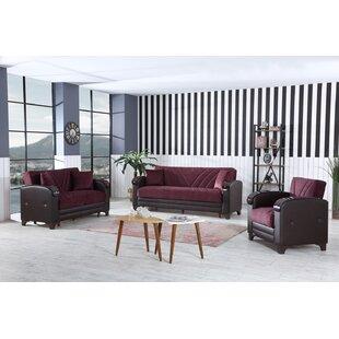 Fremon 3 Piece Sleeper Living Room Set by Red Barrel Studio