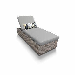 Medrano Reclining Chaise Lounge with Cushion