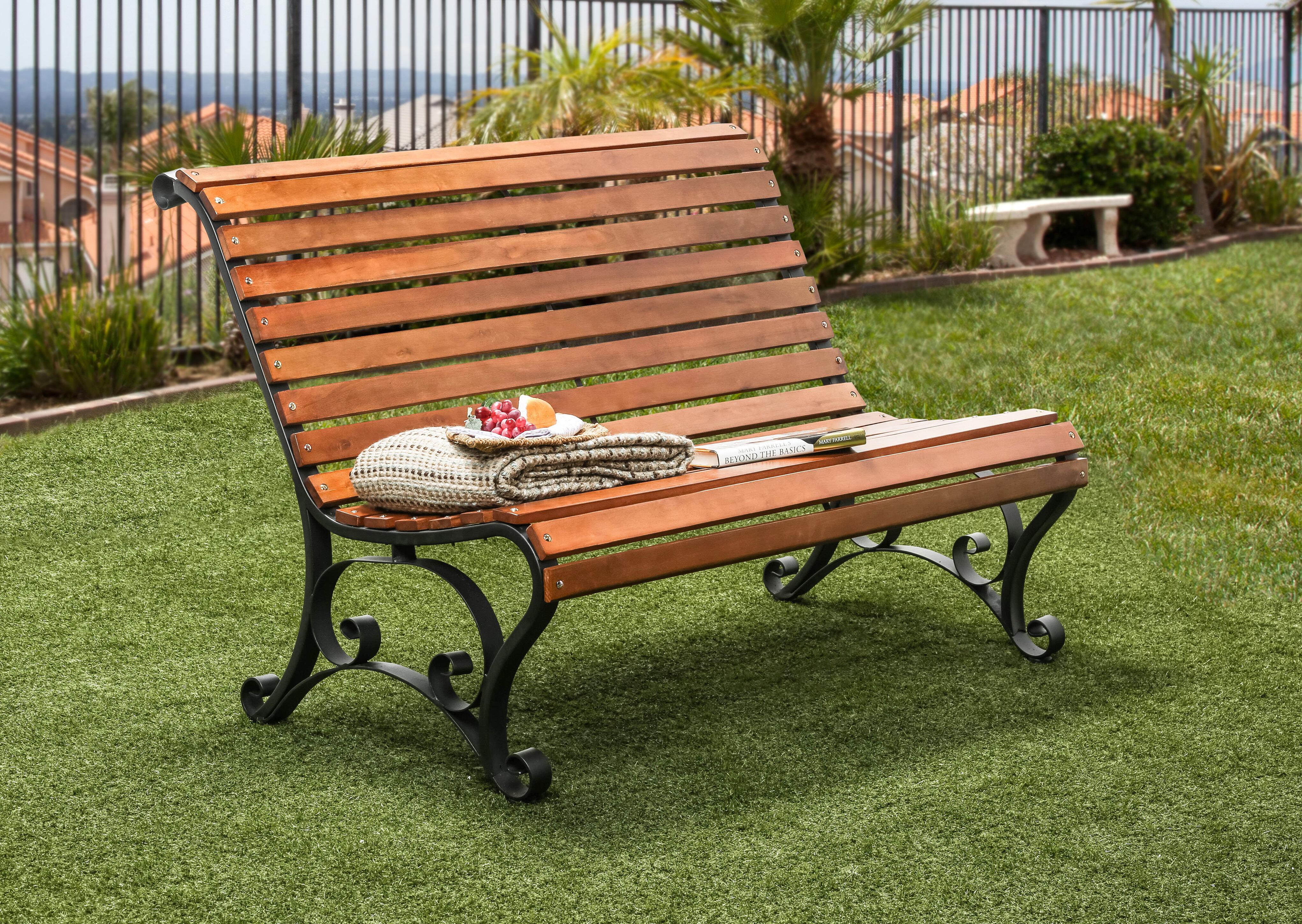 Peachy Simply Slatted Outdoor Iron Park Bench Creativecarmelina Interior Chair Design Creativecarmelinacom