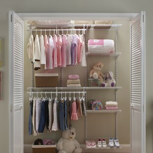 Read Reviews ShelfTrack 60 W - 96 W Closet System By ClosetMaid