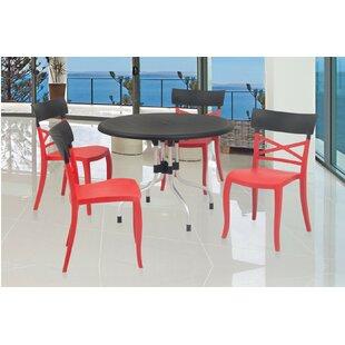 Winston Porter Keene Commercial Grade 5 Piece Dining Chair Set
