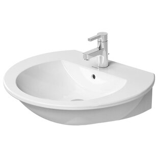 Read Reviews Darling New Ceramic 26 Wall Mount Bathroom Sink with Overflow By Duravit