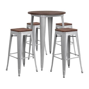 Mulligan Round 5 Piece Pub Table Set Comparison