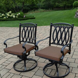 Darby Home Co Otsego Patio Chair with Cushion (Set of 2)