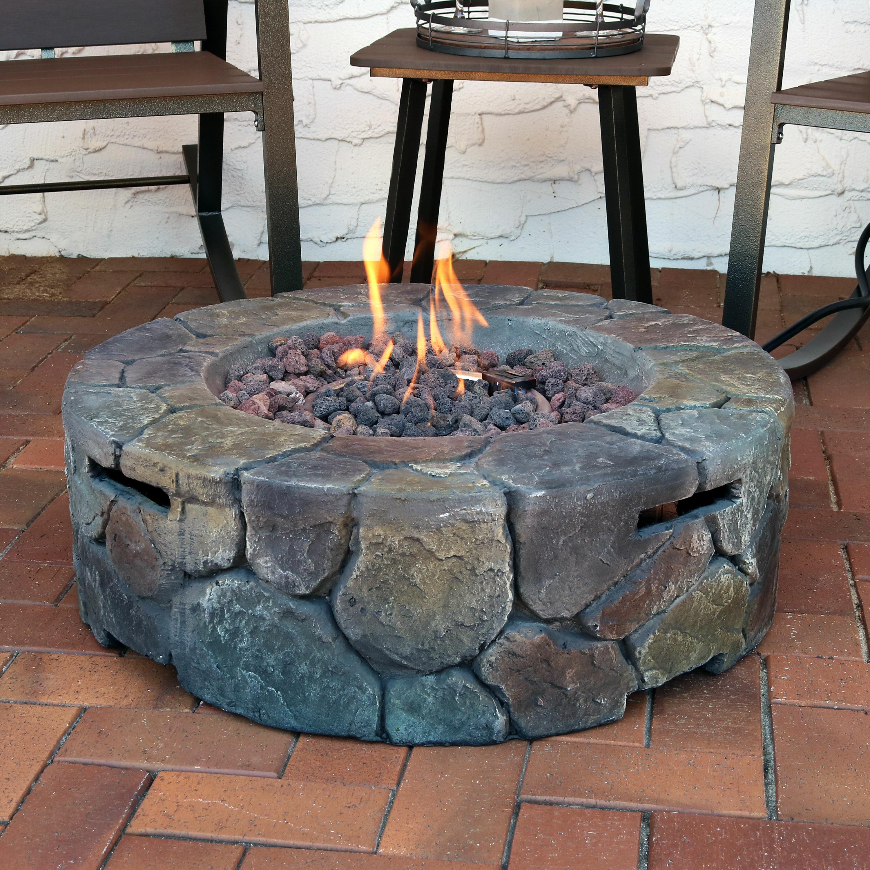 Blaser Cast Stone Propane Fire Pit