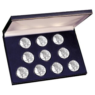 Deals Peace Silver Dollar Collection Display Box By American Coin Treasures