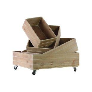 Gracie Oaks Rectangle 4 Piece Manufactured Wood Underbed Storage Set