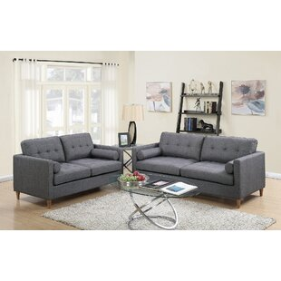 Order Cowell 2 Piece Living Room Set by George Oliver Reviews (2019) & Buyer's Guide
