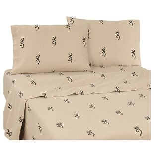 3D Buckmark 200 Thread Count 100% Cotton Sheet Set