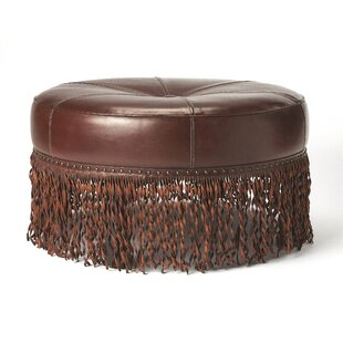 Apeton Leather Tufted Cocktail Ottoman by Loon Peak