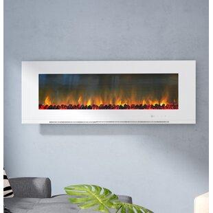 Orren Ellis Abou Wall Mounted Electric Fireplace