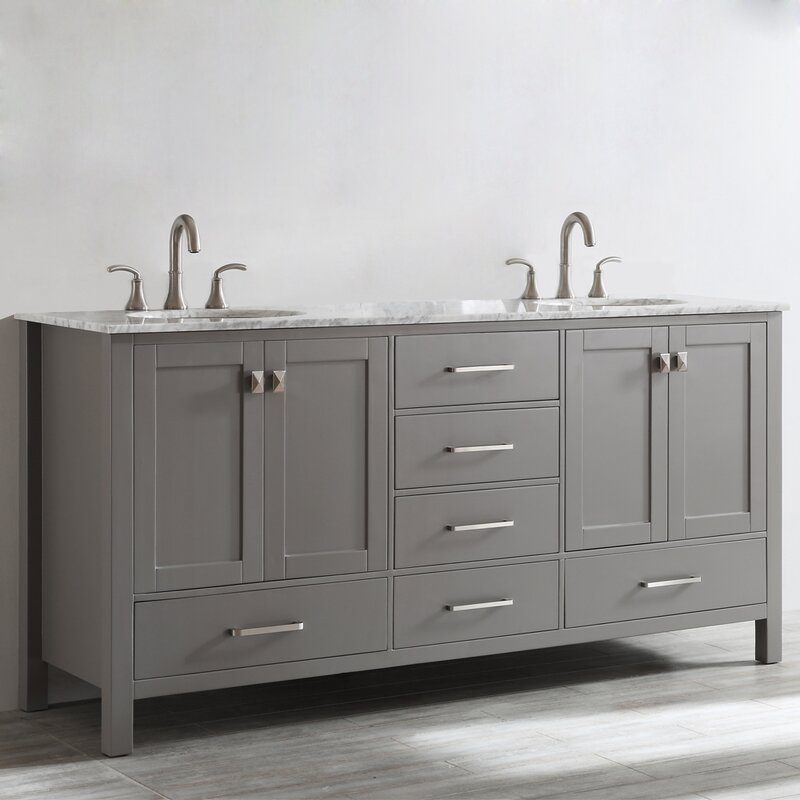 Pleasing Newtown 72 Double Bathroom Vanity Set Complete Home Design Collection Epsylindsey Bellcom
