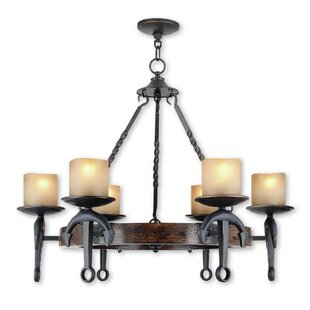 Liam 6-Light Wagon Wheel Chandelier
