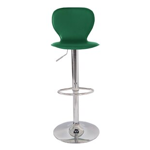 Ally Mid Century Modern Adjustable Height Swivel Bar Stool Orren Ellis