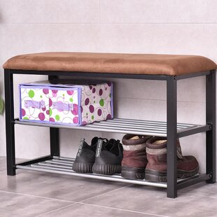 Winston Porter 2 Tier Soft Seat Shoe Storage Bench