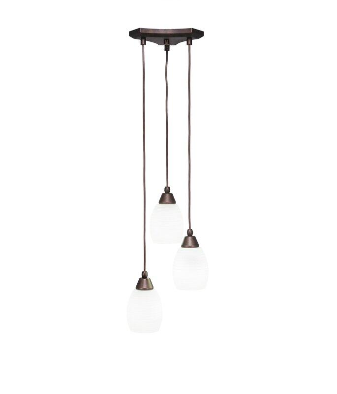 Red Barrel Studio Nessa 3 Light Cluster Cone Pendant Wayfair