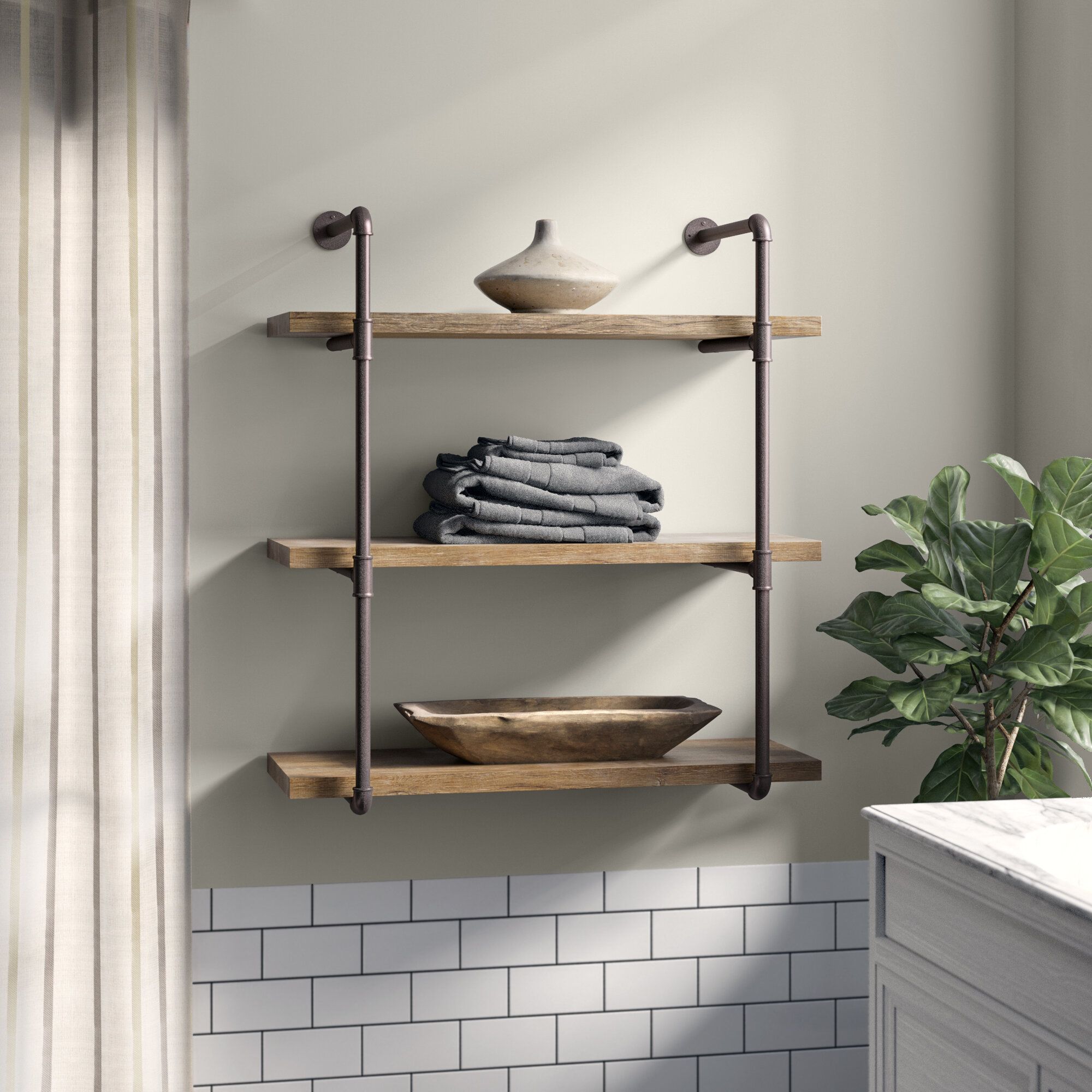 Astonishing Farmhouse Rustic Decorative Shelving Birch Lane Best Image Libraries Barepthycampuscom