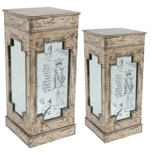 Pedestal Plant Stand (Set of 2) by A&B Home