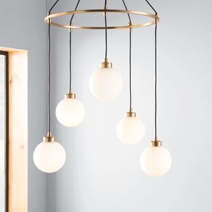 Galaviz 5-Light Cluster Pendant by Wrought Studio