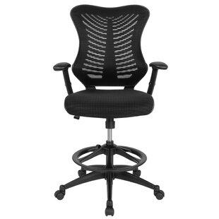 Haynie High Back Designer Ergonomic Mesh Drafting Chair by Symple Stuff