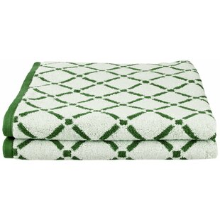 Luxurious Diamonds 2 Piece 100% Cotton Towel Set (Set of 2)
