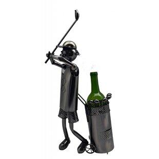 Golfer 1 Bottle Tabletop Wine Rack