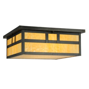 Meyda Tiffany Hyde Park Double Bar Mission 4-Light Flush Mount