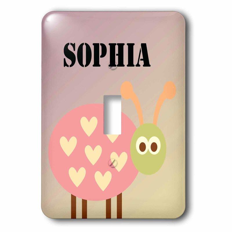3drose Cute Sophia Ladybug 1 Gang Toggle Light Switch Wall Plate Wayfair