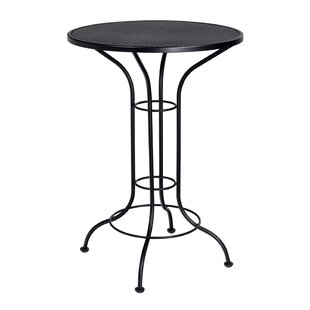 Bar Height Outdoor Round Mesh Top Wrought Iron Bar Table