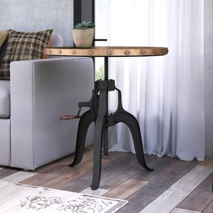 Emilie Crank End Table by 17 Stories