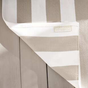 Catamaran Stripe Gold/White Indoor/Outdoor Area Rug