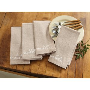 Chambray Oh So Thankful Napkin (Set of 8)