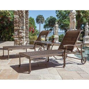 Beagle Aluminum Sun Lounger Set with Table