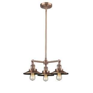 Mikesell 3-Light Shaded Chandelier by Williston Forge