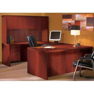 Aberdeen Series U-Shape Executive Desk with Hutch by Mayline Group