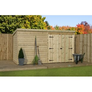 Berenson 12 Ft. W X 3 Ft. D Shiplap Pent Wooden Shed By Union Rustic