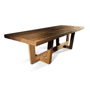 Ruby Solid Wood Dining Table Loon Peak