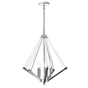 Radionic Hi Tech Altlass 5-Light Geometric Chandelier