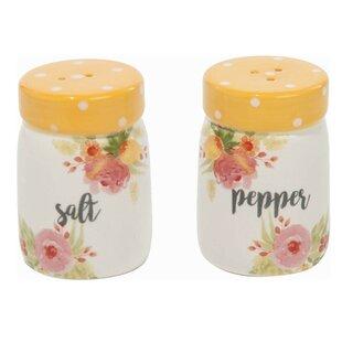 Pegram Dolomite Spring Floral Salt and Pepper Shaker Set