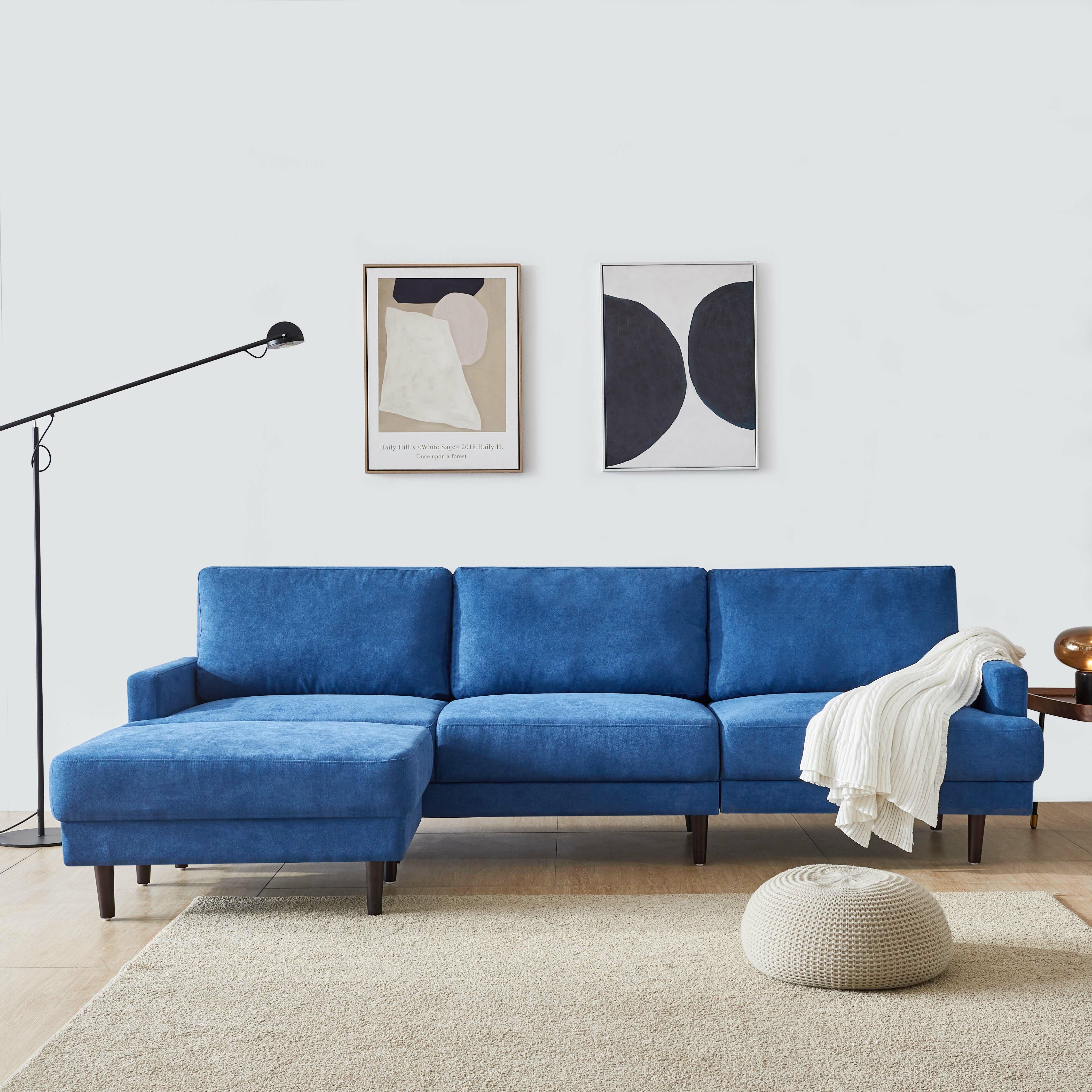 Corrigan Studio Harney 104 Reversible Modular Sofa Chaise With Ottoman Wayfair