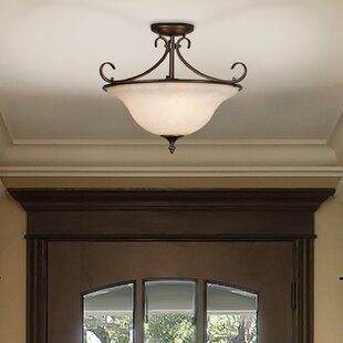Gaines 3-Light Semi Flush Mount by Alcott Hill