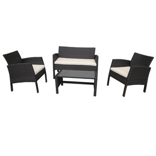 Ruger  4 Seater Rattan Sofa Set By Sol 72 Outdoor