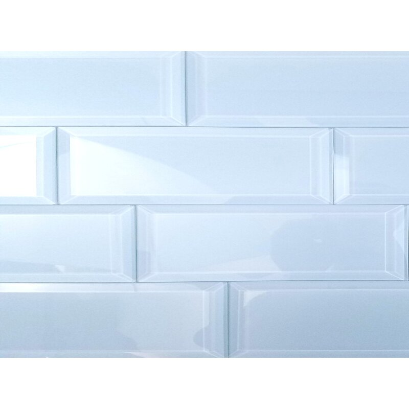 Abolos Frosted Elegance 3 X 12 Glass Subway Tile In Glossy Blue
