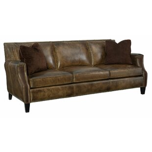 Normandy Leather Sofa by Bernhardt